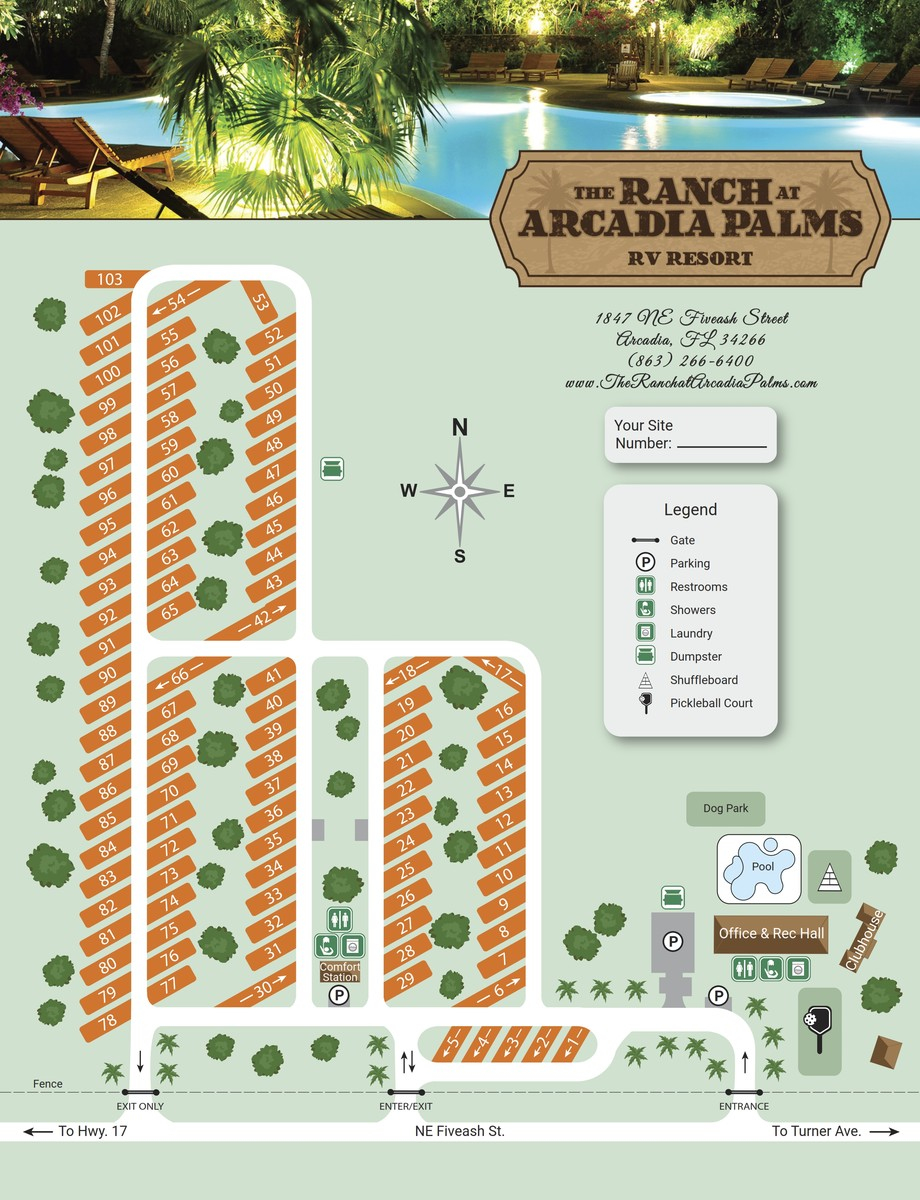 Arcadia Palms Site Map